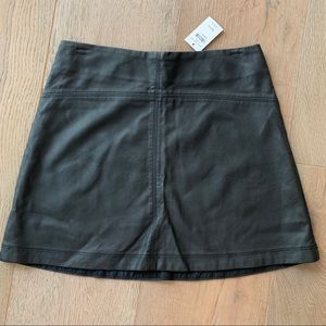 Abercrombie & Fitch Faux Leather Skirt